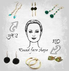 Jewelry tip:  How to chose perfect earrings to compliment your face shape.  Florida Bride Magazine via Rita Sunderland, Google+  (I need the really LONG ones :)