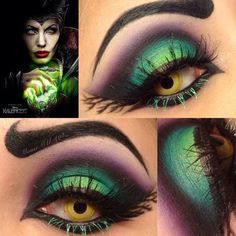 Looking for for inspiration for your Halloween make-up? Browse around this site for unique Halloween makeup looks. Maleficent Makeup, Maleficent Halloween, Halloween Eyes, Disney Makeup, Maleficent Costume, Last Minute Halloween Costumes, Halloween Makeup Looks, Costume Halloween, Last Minute Costume Ideas