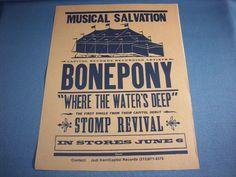 Bonepony, Single Sheet Advertising Poster, 1995 Bonepony Promotional Sheet, Bony
