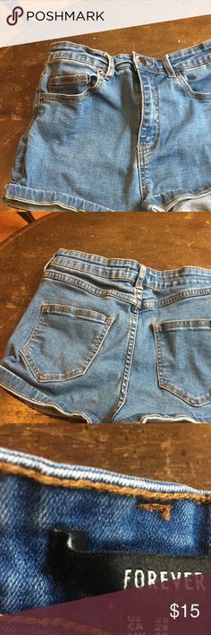 Forever 21 Jean Short Shorts Forever 21 jean short shorts. Size 28. Great condition, only worn twice. Forever 21 Shorts Jean Shorts