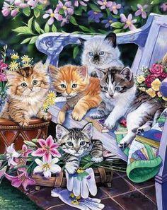 Kittens in the Garden (130 pieces)