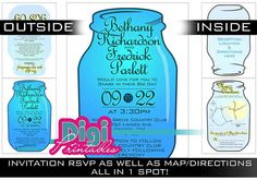 Mason Jar Wedding Suite Foldable   Digital by digiprintables, $78.95 www.DigiPrintables.Etsy.com