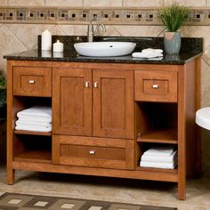 """48"""" Alcott Vanity - Natural Maple - Cabinet Only"""