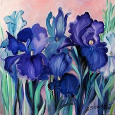 Painting of Irises by Elena Bissinger.