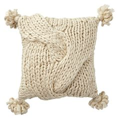 Chunky Knit Throw Pillow
