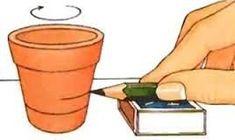 Drawing a straight line. Flower Pot Art, Flower Pot Crafts, Clay Pot Crafts, Flower Pot People, Clay Pot People, Painted Plant Pots, Painted Flower Pots, Pots D'argile, Clay Pots