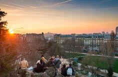Parc des Buttes-Chaumont - 10 Best Views in Paris Montmartre Paris, Paris France, Paris In October, Paris Balcony, Paris Nice, Modern Roofing, Solar Water Heater, Paris Images, Roof Architecture