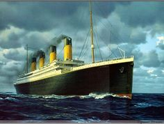 The British Ship Titan was unsinkable but sunk when it struck an iceberg in The Titanic also a British unsinkable ship sunk when it struck an iceberg in 1912 Rms Titanic, Titanic Boat, Titanic Model, Titanic Ship, Titanic History, Boat Radio, Remote Control Boat, Boat Painting, Navy Ships