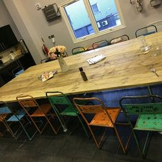 Reclaimed Industrial Chic Pipe 10-12 Seater Conference Office Table 086