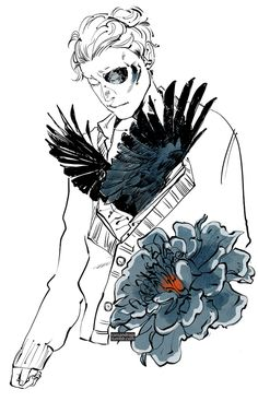 Noah From the Raven Boys by Cassandra Jean http://cassandrajp.tumblr.com/post/95912107471/hmmm-concepting-for-raven-boys-drawings-noah