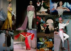 Audrey Hepburn's haute couture wardrobe by Hubert de Givenchy in the film, Funny Face.