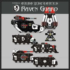 Warhammer 40K - Raven Guard Chapter Free Paper Model Download - http://www.papercraftsquare.com/warhammer-40k-raven-guard-chapter-free-paper-model-download.html