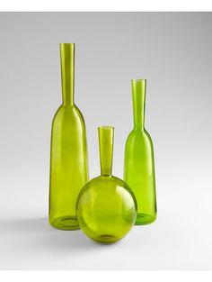 Crush glass vase by Lulu & Georgia