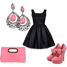 """Black and Pink"" by alishaip on Polyvore"