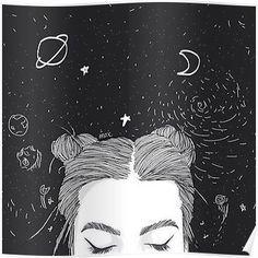 TUMBLR GIRL SPACE Poster