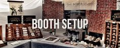 Tips for selling in person : Booth setup and merchandising