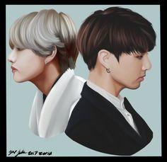 Jungkook And Taehyung by Ekiso-tsu
