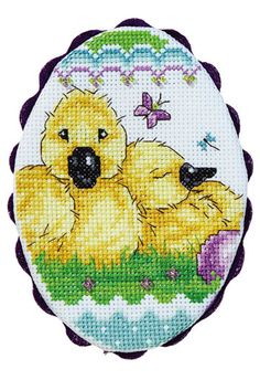 Mini cross-stitch Easter egg from Crafts 'n things blog. So sweet!