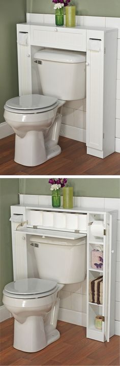 Bathroom Space Saver // clever design storage solution! #product_design