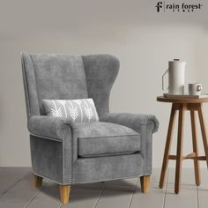 The glorious luxurious seat will look considerably all the more intimidating with inclination lightings in your lounge.   #chair #accentchair #woodenchair #furniture #livingroom #interior #homedecor #woodchair