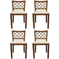 "Set of Four Jean Royère ""Croisillon"" Chairs 