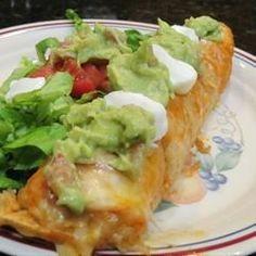 "Healthier Chicken Enchiladas I | ""I used Greek yogurt instead of sour cream. I loved it."""