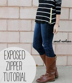 DIY Clothes DIY Refashion DIY Clothes Refashion: DIY Exposed Zipper Top: a tutorial