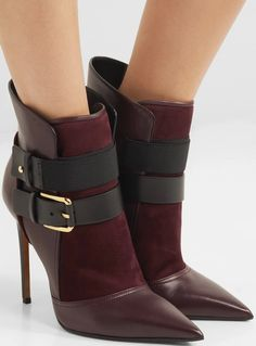 "Balmain ""Anais"" leather and suede ankle boots"