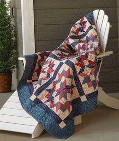This stunning patriotic quilt pattern, which works great as a Quilt of Valor, uses simple triangle-squares and diagonal seams... it's easier than it looks!