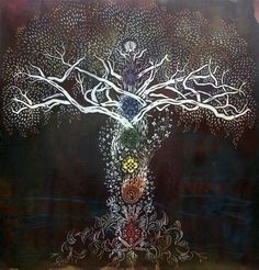 Kinda like this babe? @Tara Harmon Shanahan   Tree of life, chakras