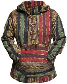 Shopoholic Fashion Women Multicolored Hippie Pullover Hoo...…