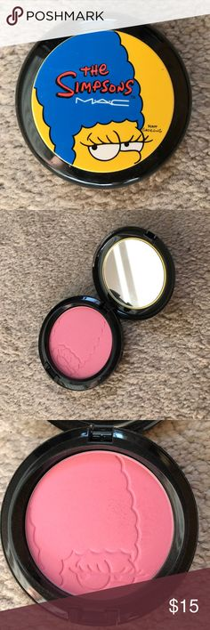 MAC limited edition blush Limited Edition Marge Simpson MAC blush in pink sprinkles. Used twice. MAC Cosmetics Makeup Blush