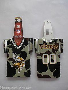 Minnesota Vikings Camouflage Neoprene Bottle Jersey Holder Visit our website for more: www.thesportszoneri.com