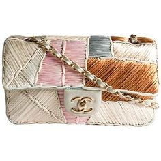 Chanel Cruise 2011 Patchwork Raffia Classic Flap Shoulder Handbag