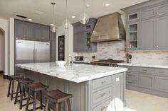 Gorgeous Gray Kitchen Design Ideas 34 - TOPARCHITECTURE