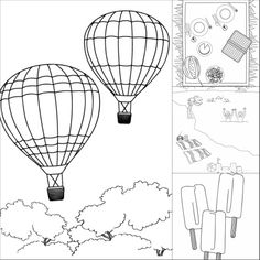 Summer Fun Printable Coloring Pages - Make and Takes