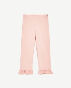 Image 8 of CROPPED TROUSERS WITH FRILL from Zara