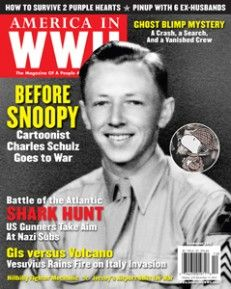 Peanuts Cartoonist Charles M. Schulz served in the Army from 1943-45 with the 20th Armored Division in Europe. His unit saw combat only at the very end of the war. Schulz said that he only ever had one opportunity to fire his machine gun but forgot to load it. Fortunately, he said, the German soldier he could have fired at willingly surrendered. Years later, Schulz proudly spoke of his wartime service.