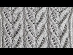 Ажурные японские дорожки Вязание спицами Видеоуроки - YouTube