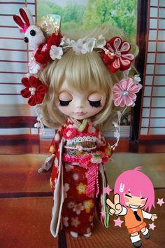 Custom Blythe Dolls: New Year Custom Blythe with Kimono - A Rinkya Blog