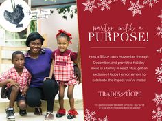 Trades of Hope Haiti, Holiday Recipes, November, United States, Meals, Ornaments, Celebrities, Free, Meal