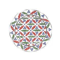 iznik plate chintamani patterns