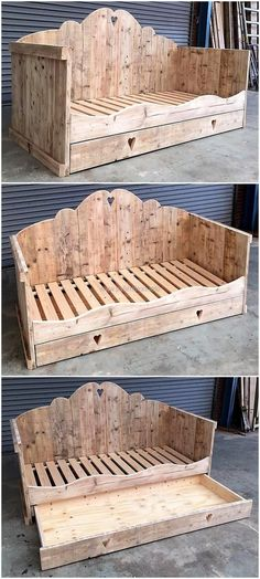 reused wood pallets kids bed