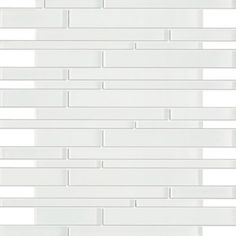 Zen Crystal White Random Strip Glass Mosaic Tiles