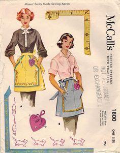1953 McCall's 'Sewing Apron' Pattern #1800.
