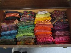 Handknit sock drawer