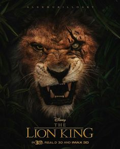 Be prepared>>if this is seriously the poster for a live-action lion king....>>>it's probably not though- an artist's name is above the lion. Still cool.