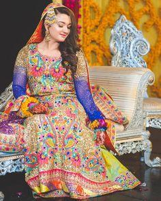 Nomi Ansari mehndi outfit