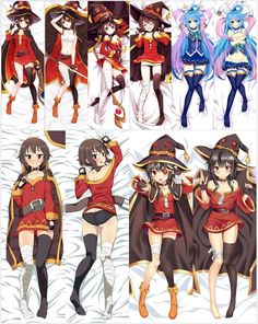 KonoSuba Megumin Dakimakura Body Pillow Cover Case - A Konosuba Anime, Otaku Anime, Anime Girl Hot, Anime Art Girl, Konosuba Wallpaper, Dakimakura Pillow, Body Pillow Covers, Body Pillows, Estilo Anime
