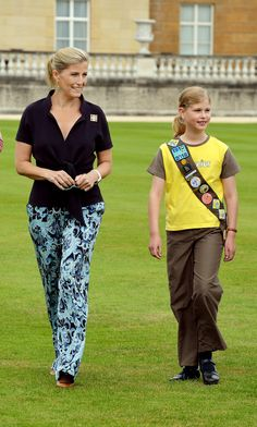 Soohie Countess of Wessex and Lady Louise - 100th Anniversary of the Brownies, Buckingham Palace, 25th June 2014